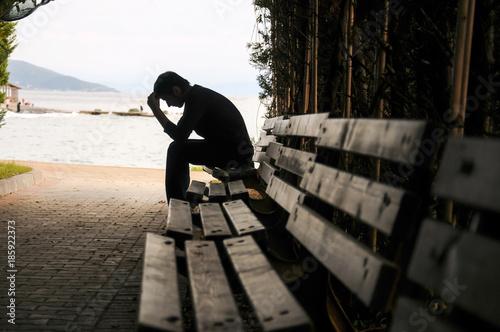 Fotografija depression, teen depression, pain, suffering, tunnel.