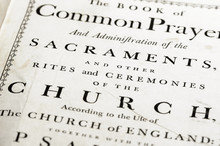 Front Cover Of A Very Old Version Of The Book Of Common Prayer (CofE)