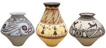 Vases With Native American Pat...