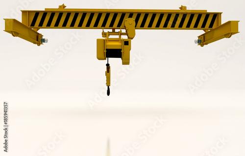 Photo  Gru Carroponte Industria, illustrazione 3d