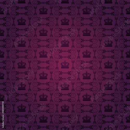 Purple Background Flower Pattern Royal Style Dark Color