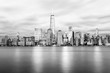 New York City Twilight Cityscape - B&W