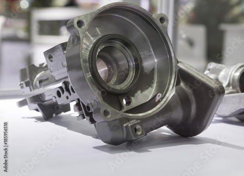 Fototapeta a high quality machined aluminium die casting part for automotive ; industry background obraz