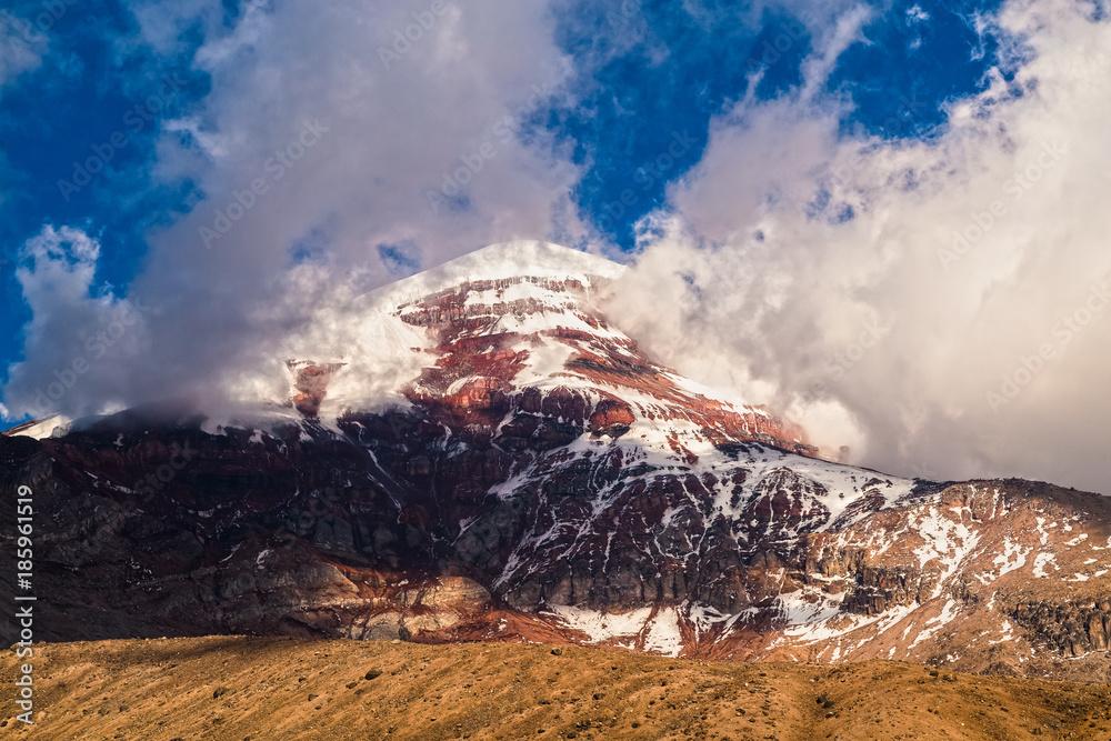Fototapeta Chimborazo volcano, is majestic at sunset