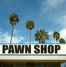 Aged And Worn Pawn Shop Sign W...