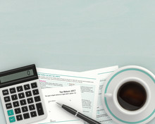 3d Render Of UK Tax Form With ...