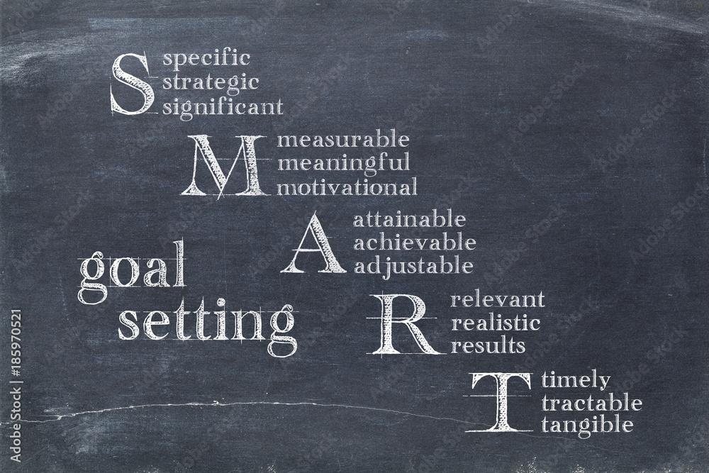 Fototapety, obrazy: smart goal setting concept
