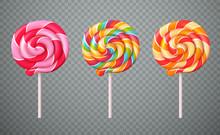 Realistic Lollipops Transparen...
