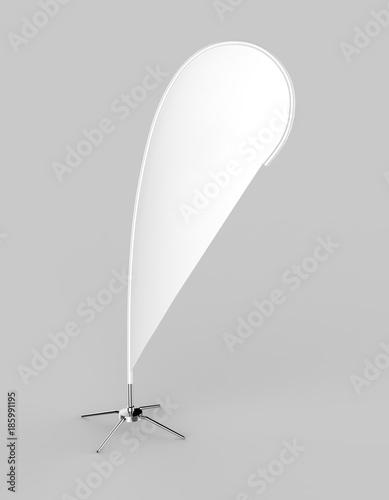 Blank white teardrop bow flag outdoor advertising shield beach flag ...