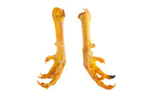 Two Chicken Legs Claws Isolate...