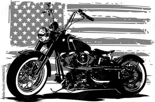 Chopper americano Wallpaper Mural