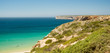 The coast of the Portuguese Algarve in summer