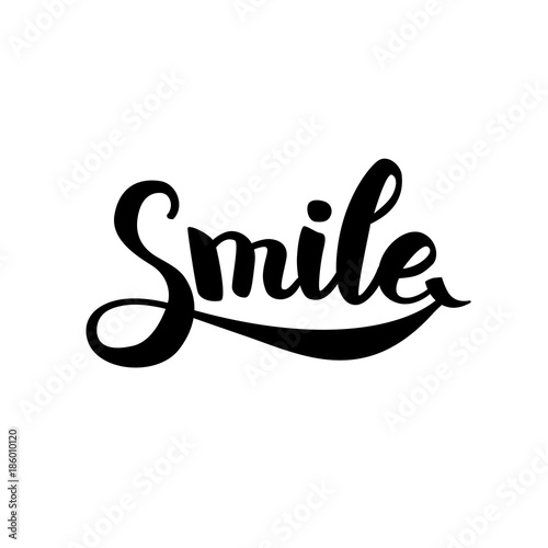 In de dag Positive Typography Smile typography logo