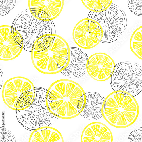 seamless-lemon-pattern-vector-background-with-watercolor-and-doodle-lemon-slices