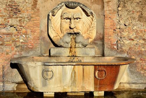 Cuadros en Lienzo Beautiful fountain in orange gardens in Rome, Italy