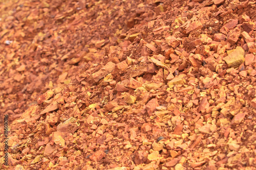 Bauxite mine raw bauxite on surface Wallpaper Mural