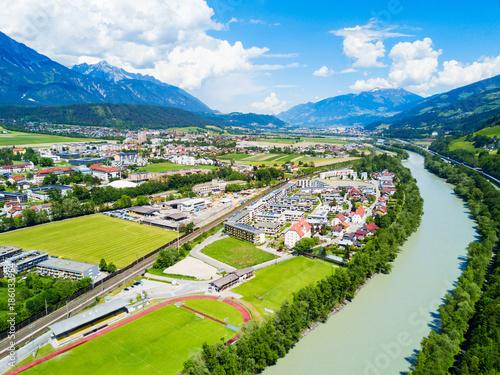 Hall Tirol aerial view Wallpaper Mural