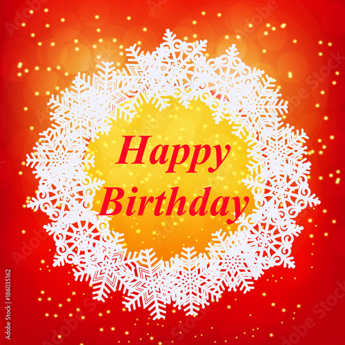 happy birthday greeting card new year template brightly colorful illustration red illustration of