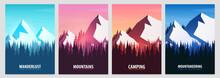 Set Of Mountains Posters. Natu...