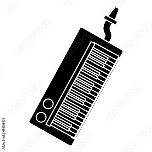 Fotografie, Obraz  Melodic keyboard music instrument icon vector illustration graphic design