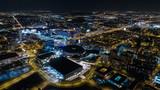Fototapeta Miasto - Nocna panorama miasto katowice
