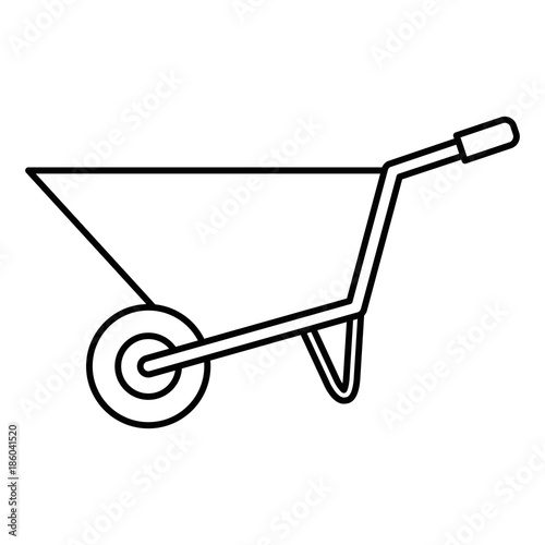 Photo wheel barrow isolated icon