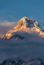 Clouds Hugging A Mountaintop I...