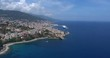 BASTIA, CORSICA, FRANCE – JULY 2016 : Aerial shot of Bastia cityscape on a sunny day with harbor and sea in view