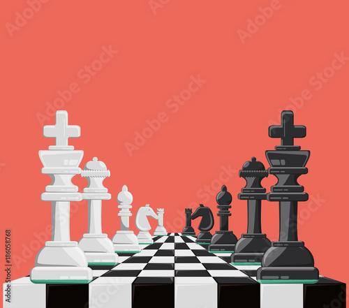 chess game design Fotobehang
