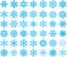 Snowflakes Set - Vector Set Of...