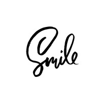 Smile. Motivation Modern Dry B...