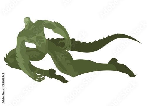 Photo  evil lizard man