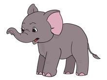Surprised Elephant, Cartoon