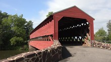 The Sachs Covered Bridge Near Gettysburg, Pennsylvania, United States.