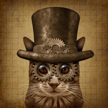 Steampunk Grunge Cat