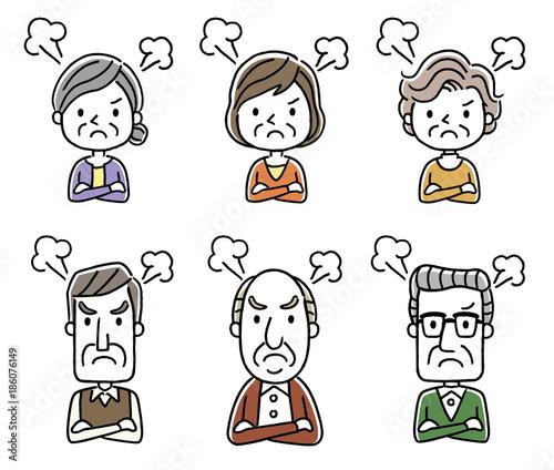シニア男性とシニア女性:怒る Canvas Print
