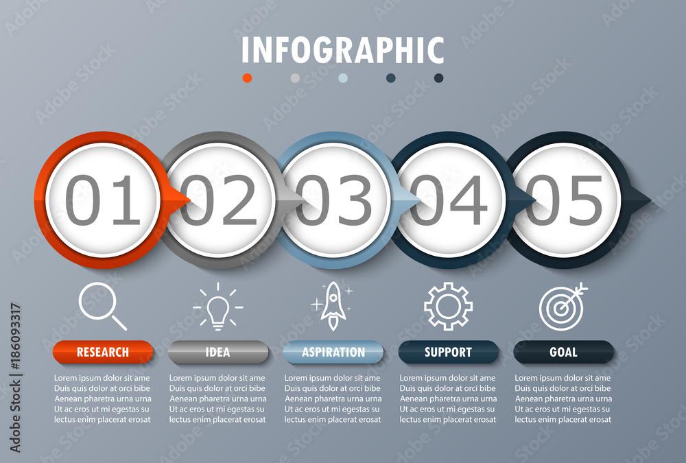 Fototapety, obrazy: Infographic modern for visualization