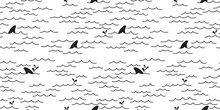 Shark Dolphin Seamless Pattern...