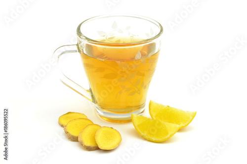 Fototapeta herbata z imbirem i cytryną obraz