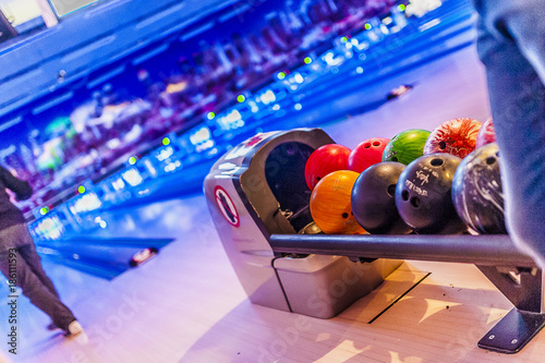 Leinwand Poster Balles de bowling