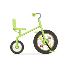 Green Tricycle For Children, K...