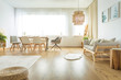 Multifunctional dining and living room