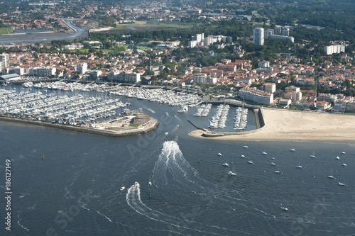 Photo Vue aérienne du port d'Arcachon
