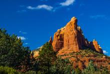 Red Rock Mountain In Arizona High Desert
