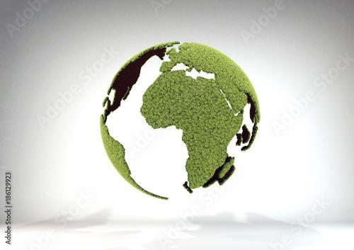 Fotografie, Obraz  planeta verde europa africa
