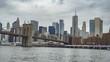 4K Manhattan New York Brooklyn Bridge Skyline City View from Hudson River