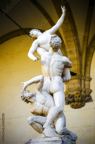 The Rape of the Sabine Women 1574-82 by Giambologna Wallpaper Mural