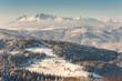 Zima w Beskidzie Sądeckim ,szlak turystyczny z Jaworzyny Krynickiej do Bacówki nad Wierchomlą