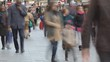 Time lapse. People walking on the street.