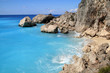 Blue waters of Kathisma beach , Lefkada, Ionian Islands, Greece